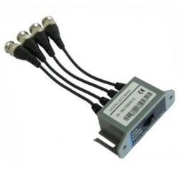 Cantek CT-VB804M 4Ch Passive Video Balun - Video Transceiver/ Plastic