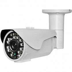 Cantek Plus CTP-TF19STB-W HD-TVI 1080p Outdoor IR Bullet Camera, 3.6mm Lens, White