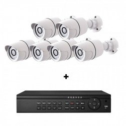Cantek-Plus CTPK-NH41B6-4T IP Camera System w/(6) Bullet Cameras 4TB