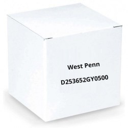 West Penn D253652GY0500 22 AWG Foil Shield CMP Rated Cable 500 ft Gray