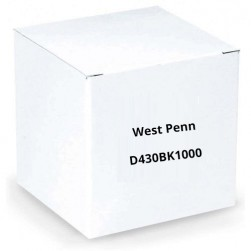 West Penn D430BK1000 2 Pair 22 AWG Shielded CM, 1000', Black