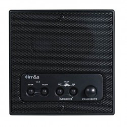 Linear DMC3RSB Retrofit Indoor Room Station with Remote Scan and Master Volume, Black
