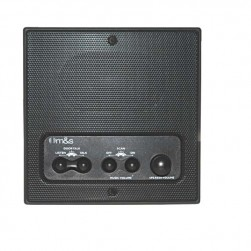 Linear DMC4RSB Retrofit Indoor Room Station with Remote Scan and Master Volume, Black