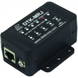 Ditek DTK-MRJPOES Shielded Gigabit PoE Surge Protection