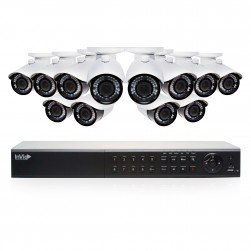 Cantek Plus EF12B4TB 12 Camera HD TVI Bullet Security Camera System