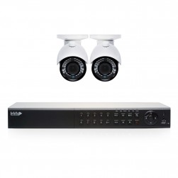 Cantek Plus EF2B1TB 2 Camera HD TVI Bullet Security Camera System