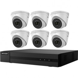 Hikvision EKI-Q82T46 Includes Six 4 MP Outdoor IR Turrets and One 8 Channel Network Video Recorder