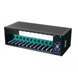 "American Fibertek ET-C12 19"" Rack Mount Chassis for ET2111 Series Units"