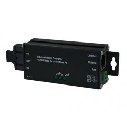 American Fibertek ET1111-L-MT Industrial Microtype 10/100Base-TX to 100Base-FX Ethernet Media Converter