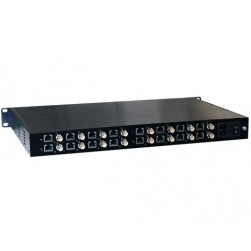 American Fibertek ET16100CP-R16 Receiver of 16 Port Coax to 16 Port 10/100Base-TX Ethernet Over Coax Extender with PoC