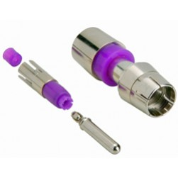 ICM Corp FSRCA15RGB RCA, Multi Pc., RGB 22-24 AWG (Purple)