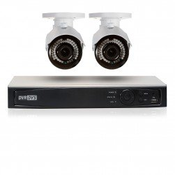 Cantek Plus GR2B1TB 2 Camera HD TVI 2.4 MP Bullet Security System