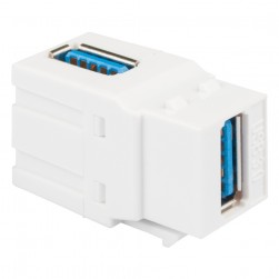 ICC IC107AUSWH 90 degree USB 3.0 Type Female-to-Female Module White