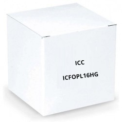 ICC ICFOPL16HG HD Adapter Panel 6 Duplex LC 24F Aqua Multimode