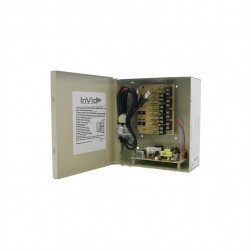 InVid IPS-VDC8-12-6UL 8 Channel 4 Amps, Regulated 12VDC Master Power Supply, PTC, Battery