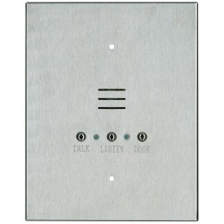 Alpha IS481C 4 Wire Vandal-Resistant Apartment Intercom Station with Metal Pushbuttons and Screw Terminals