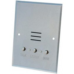 Alpha IS407C 4 Wire Apartment Station-Metal Buttons-Stainless Steel