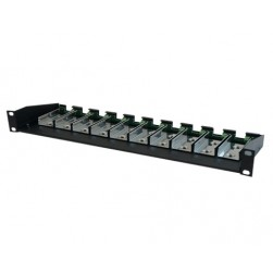 "American Fibertek MR-C10 19"" Rack Mount Chassis for Microtype units"