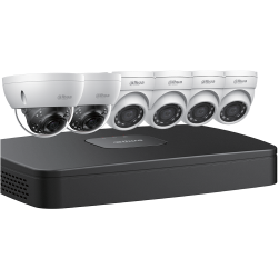 Dahua N488D63 4x4 MP Eyeball and Two 4K Dome Network Cameras with One (1) 8 Channel 4K NVR, No HDD