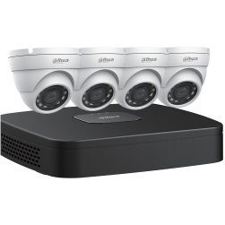 Dahua N444E42 4 Megapixel 4x4 Eyeball Network Cameras with One (1) 4 Channel 4K NVR, 2TB