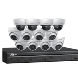 Dahua N5168D124 8x4 MP Eyeball and Four 4K Dome Network Cameras with One (1) 16 Channel 4K NVR, No HDD