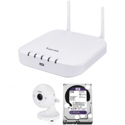 Vivotek ND8212W-2TB-4IP60 8 Megapixel 4 Wi-Fi + 4 Wired Channels 8MP NVR with 2TB HDD & 4 2 Megapixel Wi-Fi Cube Cameras Kit