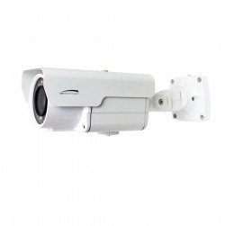 Speco O2LPR67 2 Megapixel H.265 License Plate Capture Bullet IP Camera, 5-50mm Lens, White