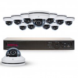 Cantek PT12MPTZ4TB Powerful 12 Channel Pan/Tilt/Zoom 1080P HD Security System