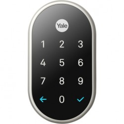 Yale RB-YRD540-WV-619 Nest x Yale Lock with Nest Connect, Satin Nickel