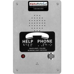Alpha RCB2100SR Stainless Steel Refuge Call Box - Surface