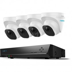 Reolink RLK8-820D4-A 4K 4 Dome Network Camera Smart Security System