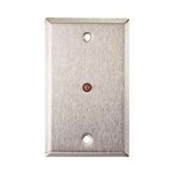 """Alarm Controls RP-28BI Single Gang Stainless Steel Wall Plate with 1/4"""" Bi-Color LED"""
