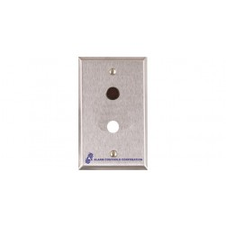 """Alarm Controls RP-30 Single Gang Stainless Steel Wall Plate with 1/4"""" Red LED and 1/2"""" Hole"""