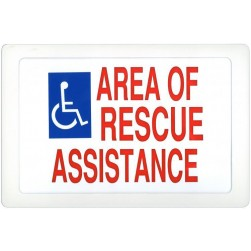 Alpha SN-E42S Rescue Assistance Signage-Electr-Single