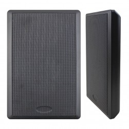 "Speco SP5SLTB 5.25"" 70V Slim Style Wall-Mount Speaker - Black"