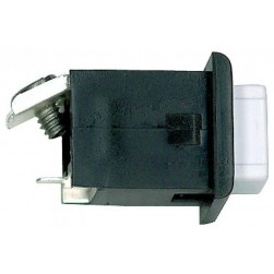 Alpha ST008K 10PAK-Pushbutton-Black/White-1 Screw