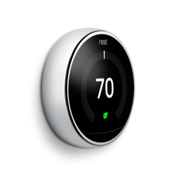 Google Nest T3019US Learning Thermostat 3rd Generation in Polished Steel