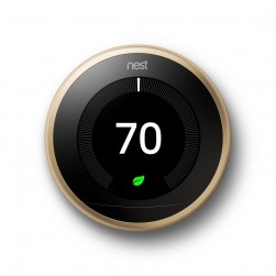 Google Nest T3032US Learning Thermostat 3rd Generation in Brass