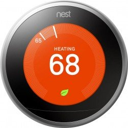 Google Nest T3008US Learning Thermostat 3rd Generation, Stainless Steel
