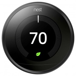 Nest T3016US Thermostat 3rd Gen, Carbon Black