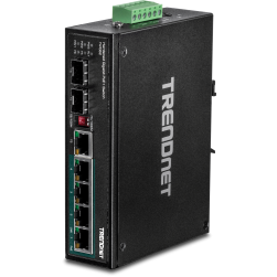 TRENDnet TI-PG62 6-Port Hardened Industrial Gigabit PoE+ Switch