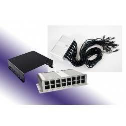 GEM TRB-16BNCPT Transceiver Box 16 Position, Video & Power, 3 Foot Pigtails to 4 RJ45