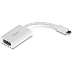 TRENDnet TUC-VGA2 USB-C to VGA Adapter with Power Delivery