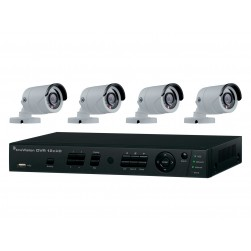Interlogix TVR-1204HD-KB1 4-Channel HD-TVI Camera System, 1TB