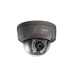 InVid ULT-P4DRIR28B 4 Megapixel Network IR Mini Dome Camera, 2.8mm Lens, Black