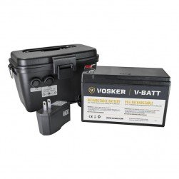 Vosker V-CASE-12V Rechargeable Battery with Case Compatible with Vosker Mobile Cameras Equipped with a 12V Power Jack