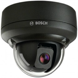 Bosch VEZ-221-ICCEIVA 10x Indoor AutoDome IP MiniDome PTZ Camera, Charcoal, Surface Mount, Clear Bubble (IVA Enabled)