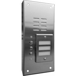 Alpha VI644S03 3 Button Stainless Steel Economy Panel-Surface