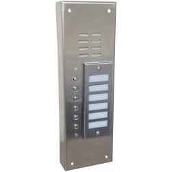 Alpha VI644S06 6 Button Stainless Steel Economy Panel-Surface