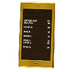 Alpha VIP010DBR 10 Name Directory Unit-Brass